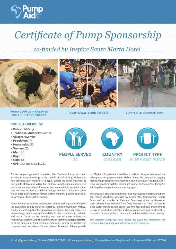 Pump-Aid-Certificate-Fair-Water-Inspira-Santa-Marta-Hotel1